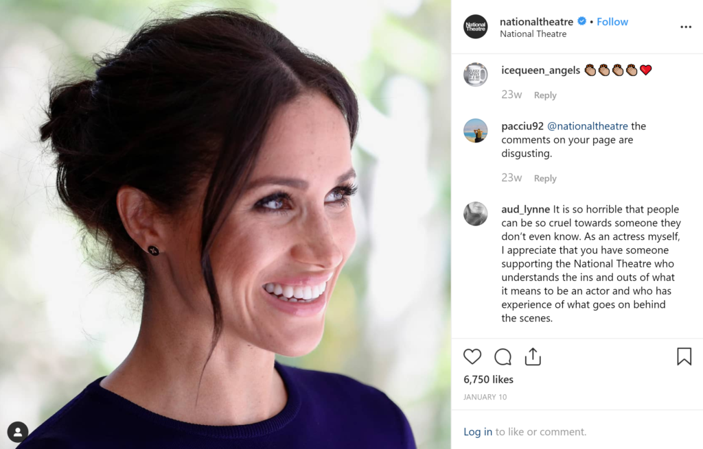 Charities Meghan Markle Supports- National Theatre