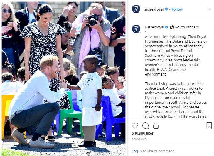 Photo: Instagram Meghan Markle Took a Photo for Michelle Obama